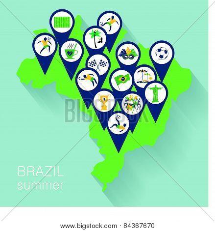 Illustration Of Traditional Brazilian Items