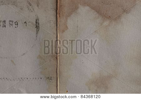 Old Paper With Stains Background