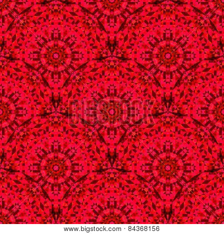Abstract Seamless Red Geometric Vector Pattern
