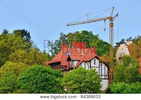 Construction In Svetlogorsk (rauschen). Kaliningrad Region, Russia