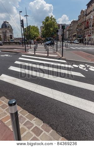 Zebra Crossing In Toulouse France