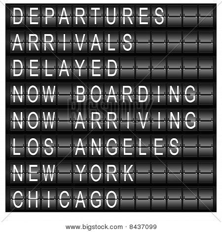 Placa de programação de estação de viagem
