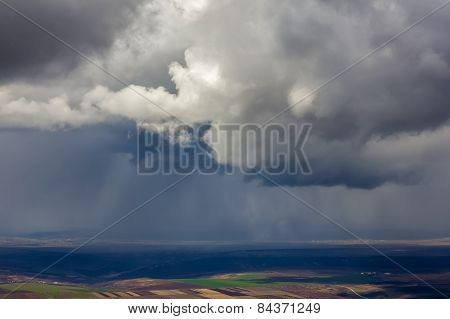 Landscape With Fields, Villages, Over Which There Is Rain.