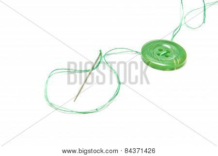 Green Thread And Green Button