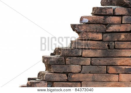 Old Ruins Brick Wall Background.