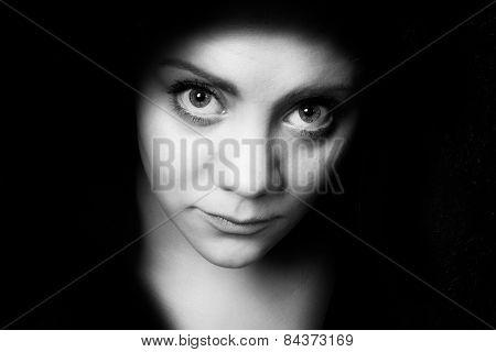Bigeye Shy Young Woman