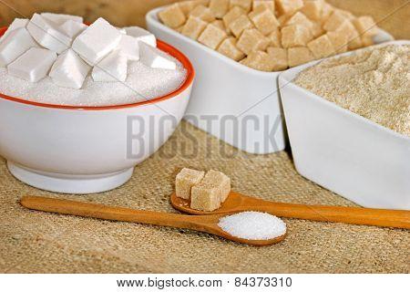 Sugar in bowls
