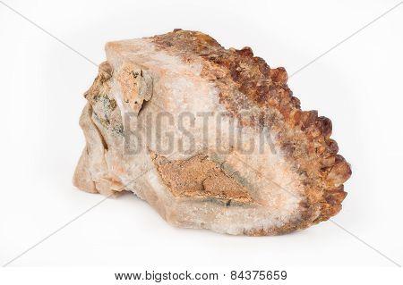 Citrine Quartz Crystal in the rough.