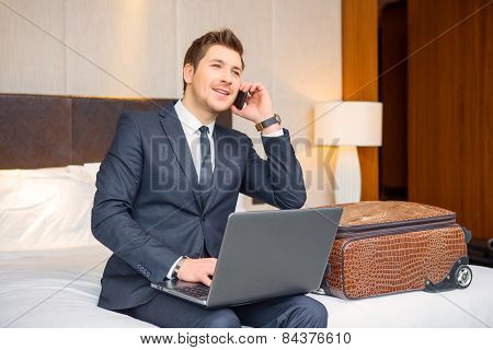 Businessman in the luxury hotel