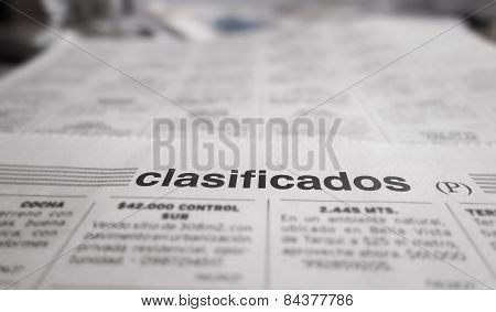 Newspaper Classified Section