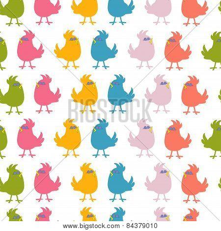 Pattern Of Cute Birds Vector