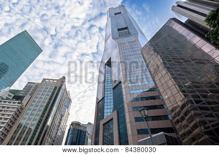 skyscrapers in financial district