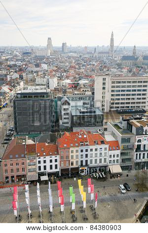 View On The Center Of Antwerp, Belgium