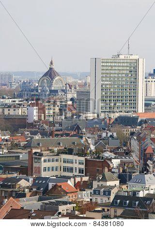 Railway Station In The Center Of Antwerp, Belgium