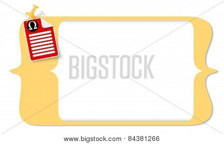 Document Icon And Omega Symbol