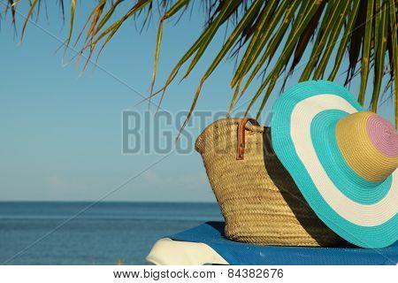 Whicker Bag On Sun Lounger