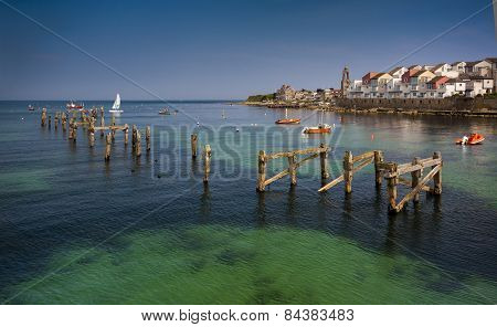 Swanage Pier And Bay In Summer