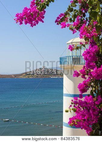Lighthouse Overlooking The Sea In Turkey