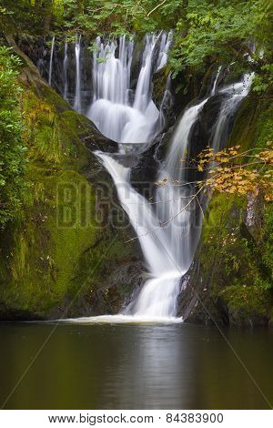 Dyfi Furnace Waterfall In Early Autumn