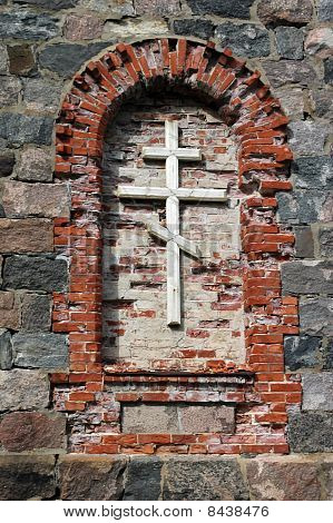 Rood In Orthodox Cathedral Ruins In Tõrva, Estonia