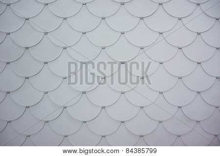 White Scalloped Background Wide