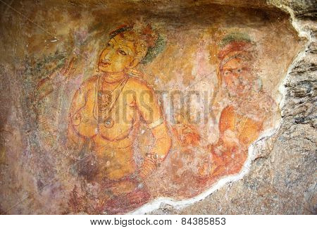 World Famous Frescos Of Ladies In Sigiriya Style