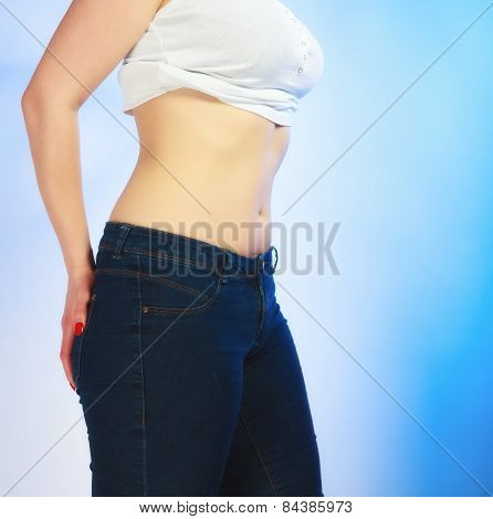 Body Of Young Plus Size Woman