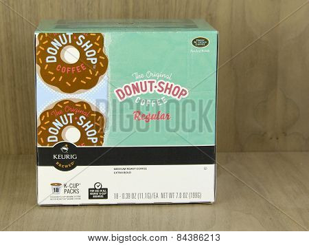 Box Of Donut Shop Coffee K-cup Packs