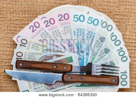 Polish Money On Kitchen Table, Coast Of Living