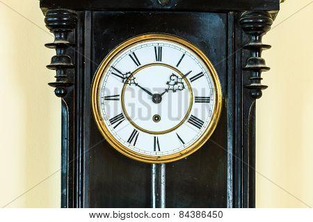 Closeup Old Clock On Wall
