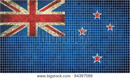 Abstract Mosaic Flag of New Zealand