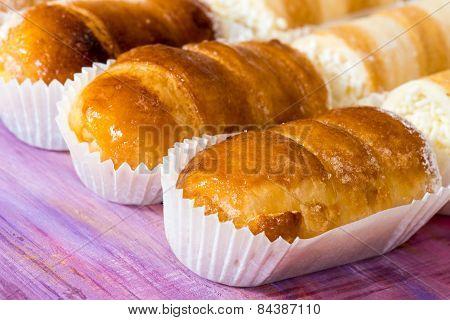 cream mixed pastries