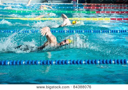 Lecco  (italy) - February 19:    Eleonora Costa ( Italy)  Performing  200 Mt Freestyle In Italian  S