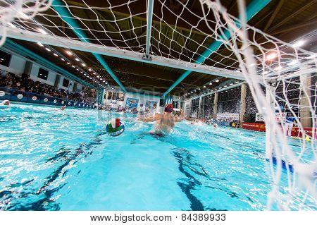 Mantova - February 19:  Ball In The Net  In Game  Bpm Sport Management   - Florence ( Italian Premie