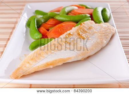 Pan Seared Tilapia With Fresh Vegetables, A Diet Conscious Healt