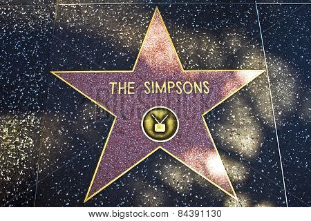 The Star For The Simpsons On The Walk Of Fame
