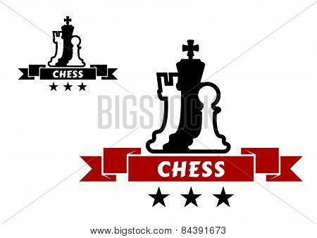 Chess emblem with different chessmen