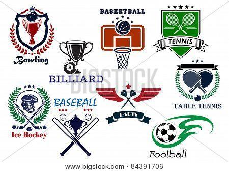 Variety sports icons set