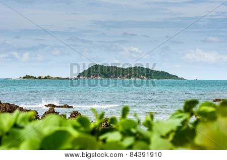 Green Island And Sea Nature Landscape