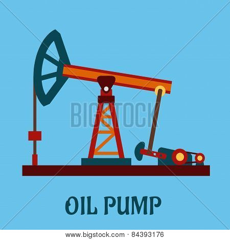 Isolated flat oil pump icon