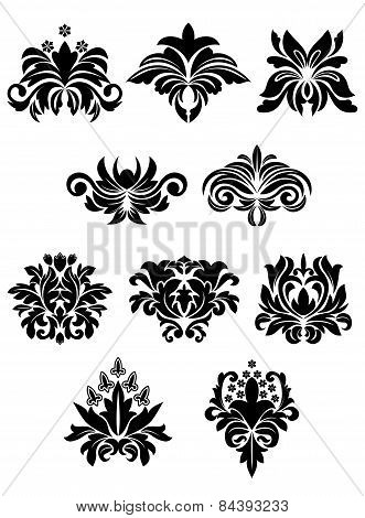 Floral design elements set