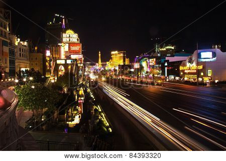 Strip In Las Vegas By Night