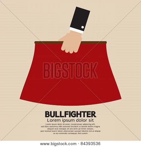 Red Fabric Of Bullfighter.