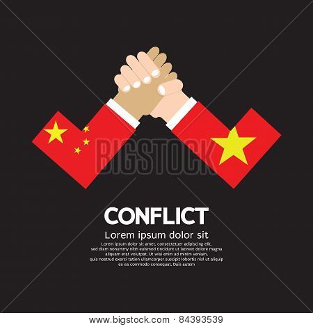 China Vs Vietnam Arm-wrestle.