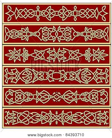 Borders and frames in celtic style