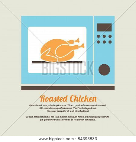 Roasted Chicken In Oven.