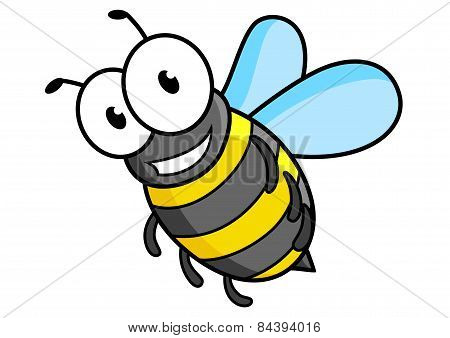 Cartoon bee or wasp character