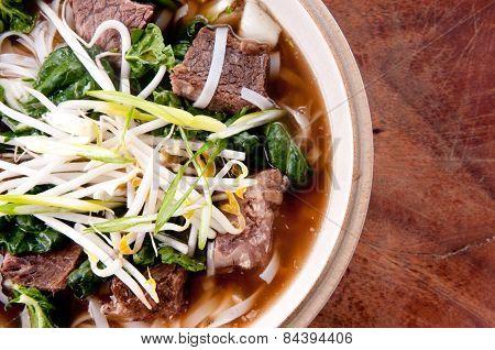 Short Rib Beef Pho, A Delicous Vietnamese Dish