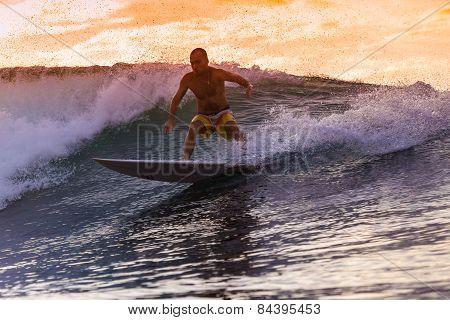 Surfer On Amazing Wave