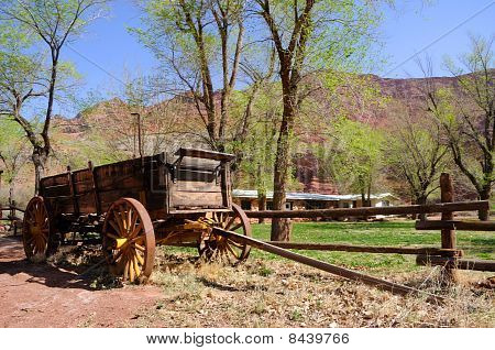 Historic Wagon at Lonely Dell Ranch in Northern Arizona